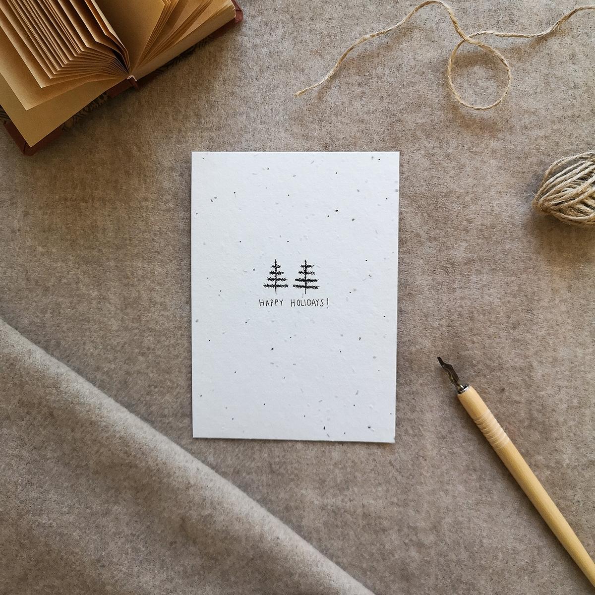 Siemenpaperi joulukortti